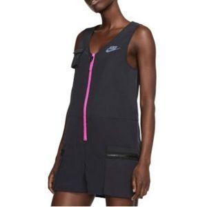 Nike Icon Clash Romper Black Pink Cargo Zip Up XL